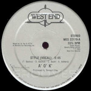 Single Cover A.o.k. - Style