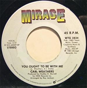 Single Cover Carl - You Ought To Be With Me Weathers