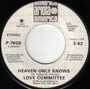 Single Cover Love Committee - Heaven Only Knows