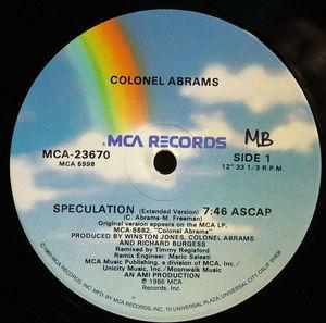 Single Cover Colonel - Speculation Abrams