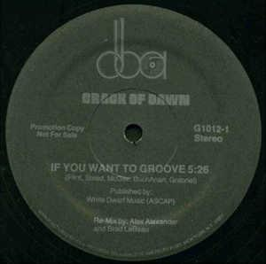 Single Cover Crack Of Dawn - If You Want To Groove
