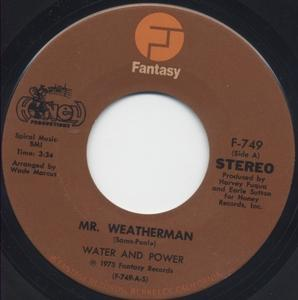 Single Cover Water And Power - Mr. Weatherman