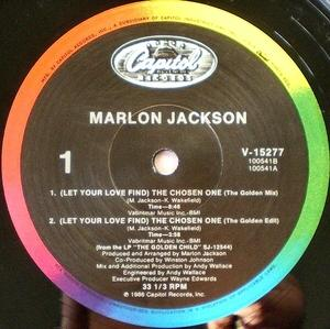 Single Cover Marlon - (let Your Love Find) The Chosen One Jackson