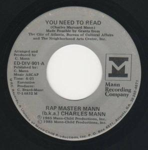 Single Cover Charles - You Need To Read Mann
