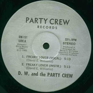 Single Cover D.w. And The Party Crew - Freaky Lover