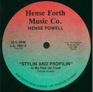 Single Cover Hense - Stylin And Profilin (in My Pick Up Truck) Powell