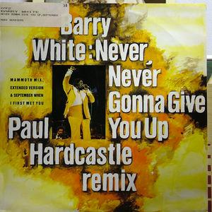 Single Cover Barry - Never Gonna Give You Up (paul Hardcastle Remix) White