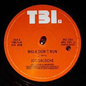 Single Cover Joe - Walk Don't Run Galoche