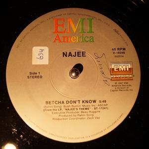 Single Cover Najee - Betcha Don't Know