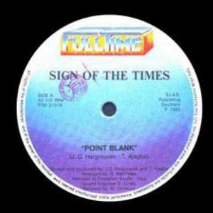 Single Cover Point Blank - Sign Of Times
