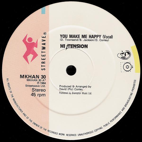 Single Cover Hi Tension - You Make Me Happy