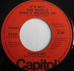Single Cover Tapestry - It's Not The World That's Messed Up