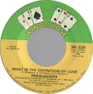 Single Cover The - What Is The Definition Of Love Persuaders
