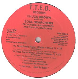 Single Cover Chuck Brown And The Soul Searchers - We Need Some Money