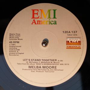 Single Cover Melba - Let's Stand Together Moore