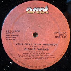 Single Cover Richie - Your Next Door Neighbor Weeks