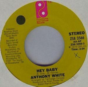 Single Cover Anthony - Hey Baby White