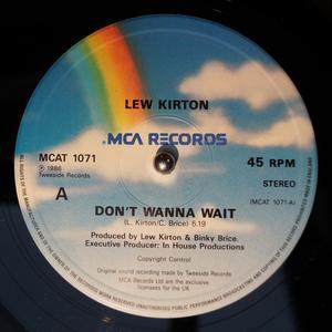 Single Cover Lew - Don't Wanna Wait Kirton