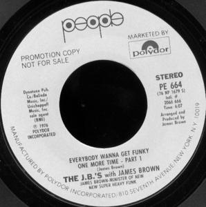 Single Cover The - Everybody Wanna Get Funky One More Time J. B.'s