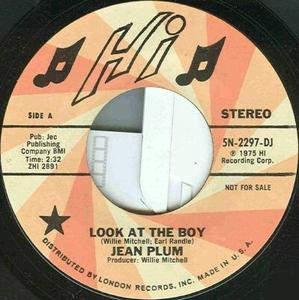 Single Cover Jean - Look At The Boy Plum