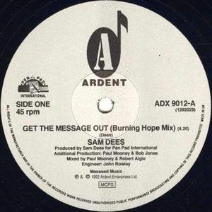 Single Cover Sam - Get The Message Out (burning Hope Mix) Dees