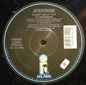 Single Cover Atension - Crazy 'bout You