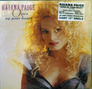 Single Cover Raiana - Open Up Your Heart Paige
