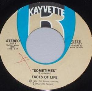 Single Cover Facts Of Life - Sometimes