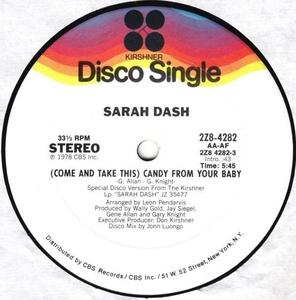 Single Cover Sarah - (come And Take This) Candy From Your Baby Dash