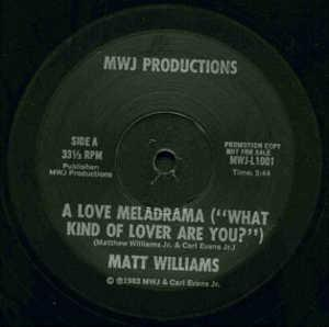Single Cover Matt - A Love Meladrama ('what Kind Of Lover Are You?') Williams