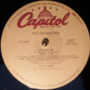 Single Cover The - Live It Up Dramatics