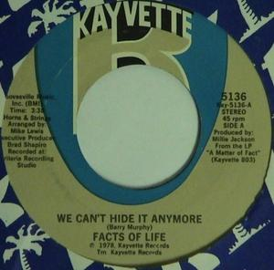 Single Cover Facts Of Life - We Can't Hide It Anymore