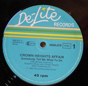 Single Cover Crown Heights Affair - Somebody Tell Me What To Do