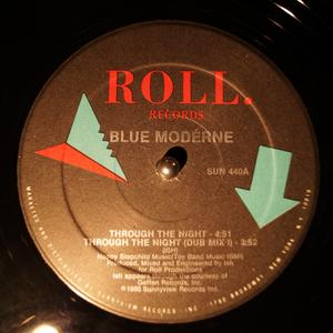 Single Cover Blue Moderne - Through The Night