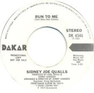 Single Cover Sidney Joe - Run To Me Qualls