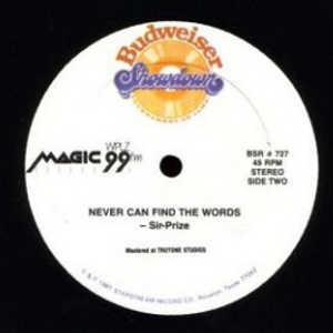 Single Cover Sir Prize - Never Can Find The Words