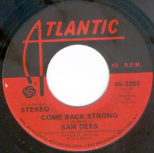 Single Cover Sam - Come Back Strong Dees