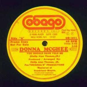 Single Cover Donna - You Should Have Told Me Mcghee