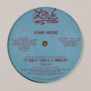 Single Cover Kenny - It Only Takes A Minute Moore