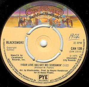 Single Cover Blacksmoke - (your Love Has Got Me) Screamin'
