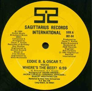 Single Cover Eddie B. & Oscar T. - Where's The Beef?