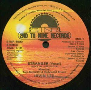 Single Cover Irvin - Stranger Lee