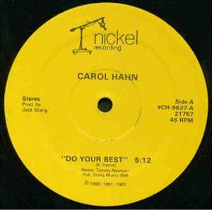 Single Cover Carol - Do Your Best Hahn