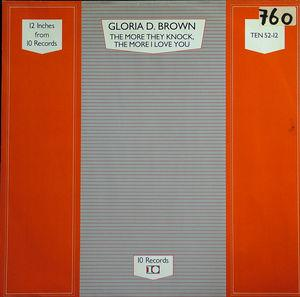 Single Cover Gloria D. - The More They Knock The More I Love You Brown