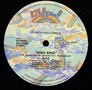 Single Cover Gaz - Sing Sing