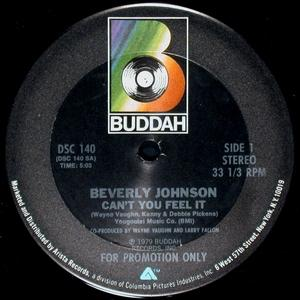Single Cover Beverly - Can't You Feel It Johnson