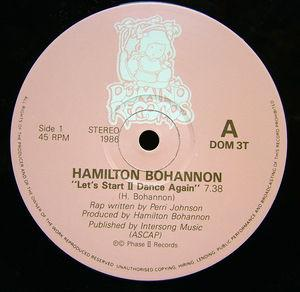 Single Cover Hamilton - Let's Start Ii Dance Again Bohannon