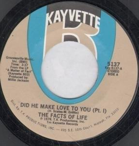 Single Cover Facts Of Life - Did He Make Love To You