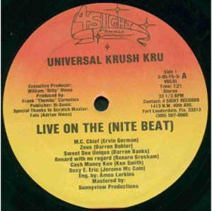Single Cover Universal Krush Kru - Live On The (nite Beat)