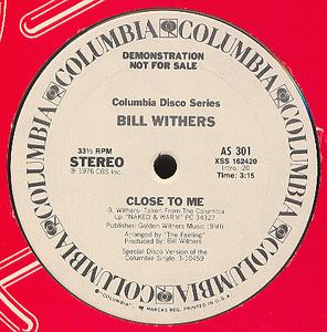 Single Cover Bill - Close To Me Withers